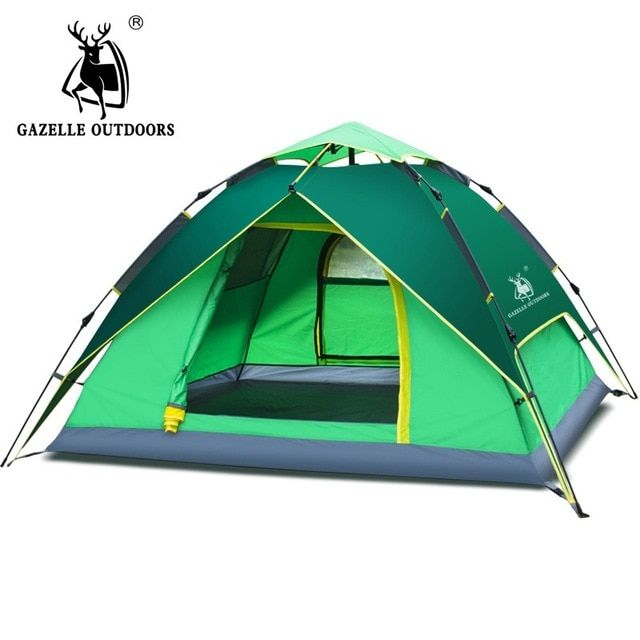 3-4 Man Hydraulic Automatic Instant Double layer Waterproof Camping Outdoor Tent