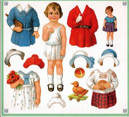 Paper Dolls: Paper Dolls Vintage Ann & Hans Cecile & Francois