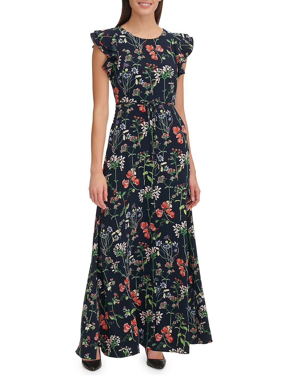 dbbf36f7ac9 Tommy Hilfiger - Gala Botanical Maxi Dress - Walmart.com