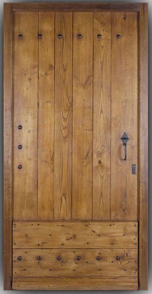 Porte de mas en chataignier - Porte du0027entrée pleine - Chataignier - porte d entree d occasion