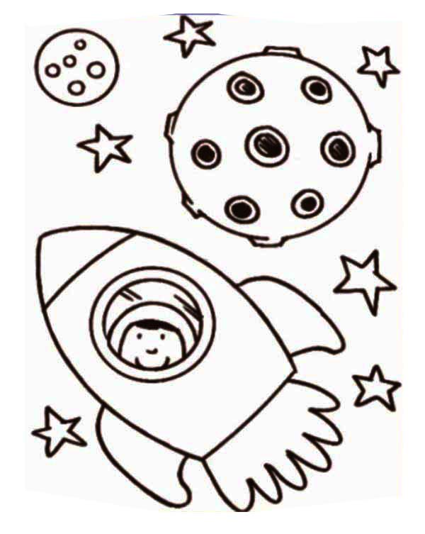 Astronaut Inside Rocket Ship Coloring Page Download Print Online Coloring Pages For Free Col Rocket Coloring Sheet Coloring Pages Dinosaur Coloring Pages