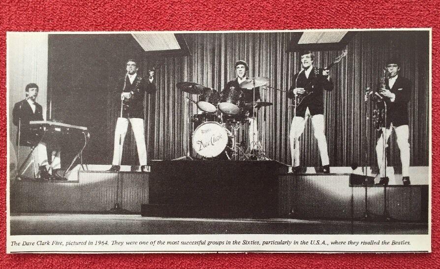 The Dave Clark Five - Picture 1964-Original & Rare - Approx 5'' x 9'' - Free P&P in Music, Music Memorabilia, Other Music Memorabilia | eBay
