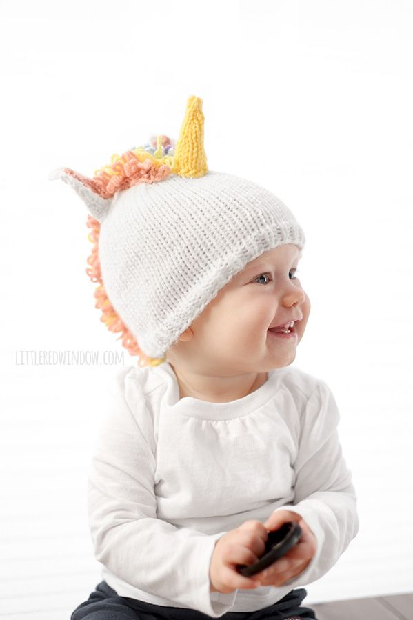 Magical Unicorn Hat Knitting Pattern | DOS AGUJAS: GORROS PARA NIÑAS ...