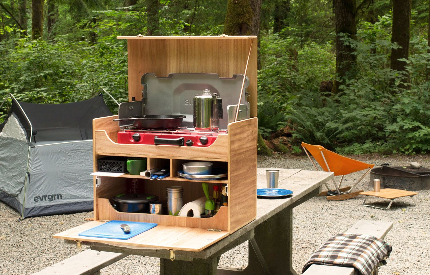 How To Build Your Own Camp Kitchen Chuck Box Rei Co Op Journal Camping Box Camp Kitchen Chuck Box Camp Kitchen Box
