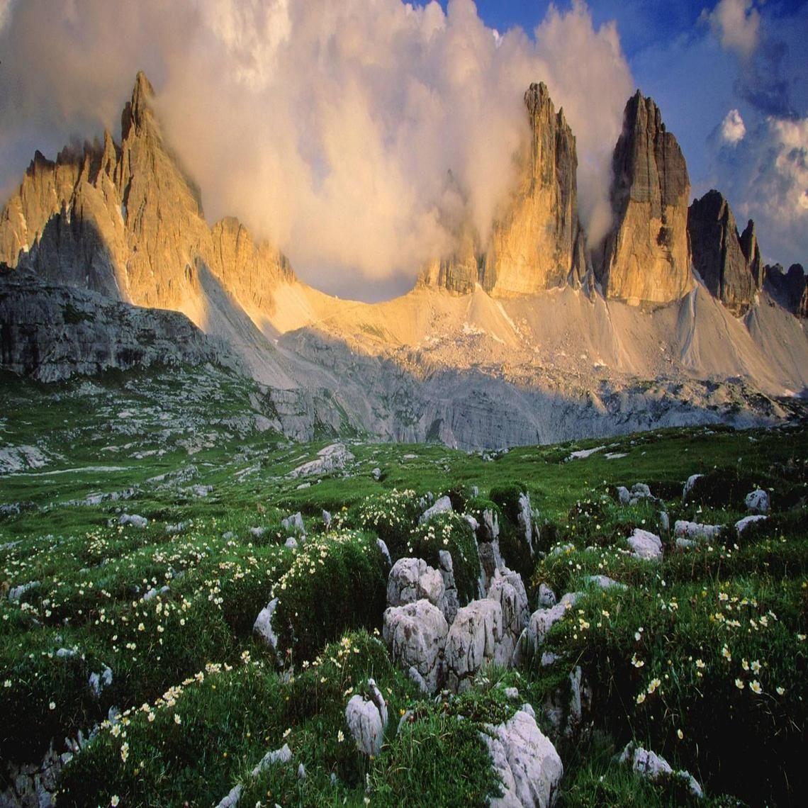 wonderful springtime in the italian tirol