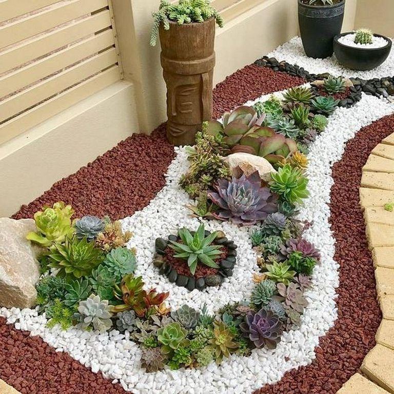25+ Beautiful Small Rock Garden Landscaping Design Ideas # ...