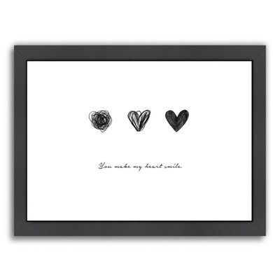 Americanflat You Make My Heart Smile by Vera Mladenovic Framed Painting Print Frame Color: