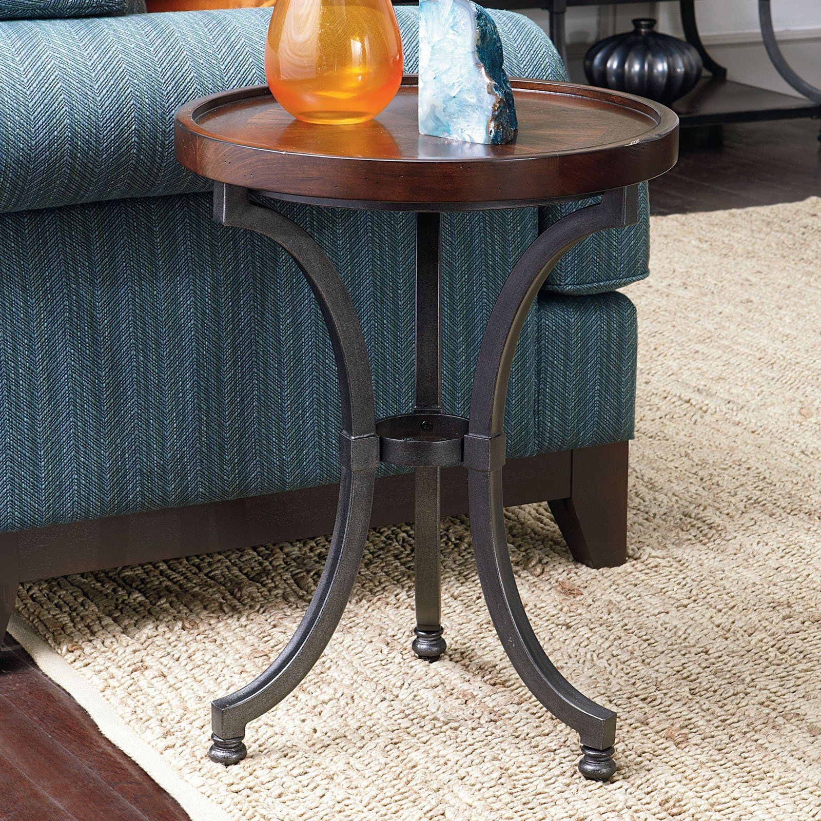 Hammary Barrow Round Chairside Table Mahogany Chair Side Table Side Table Furniture [ 1600 x 1600 Pixel ]