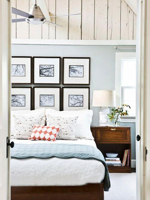 Wanddekoration Ideen Bilder Fotos Schlafzimmer Natur Holz