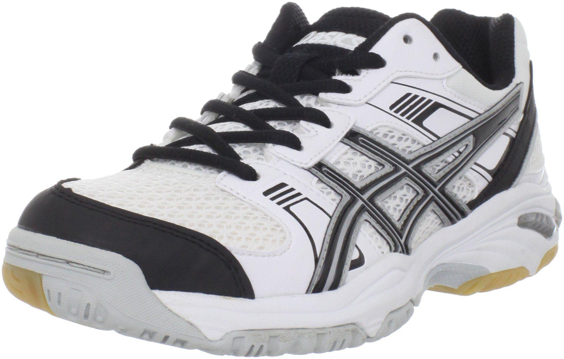 Asics Women S 1140 V Volleyball Shoe White Black Silver 9 5 M Us Gel Cushioning System Durasponge Outsole Volleyball Shoes Fashion Athletic Shoes Asics Women