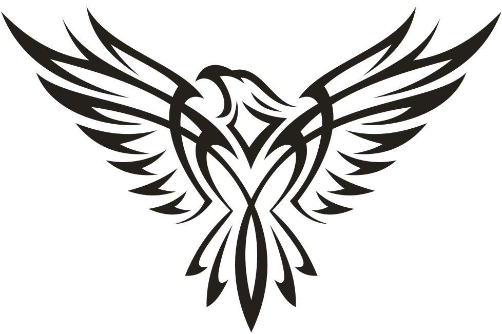 Simple Eagle Tribal Tattoo Design Style Designs Cool Tribal Tattoos Tribal Tattoos Tribal Eagle Tattoo