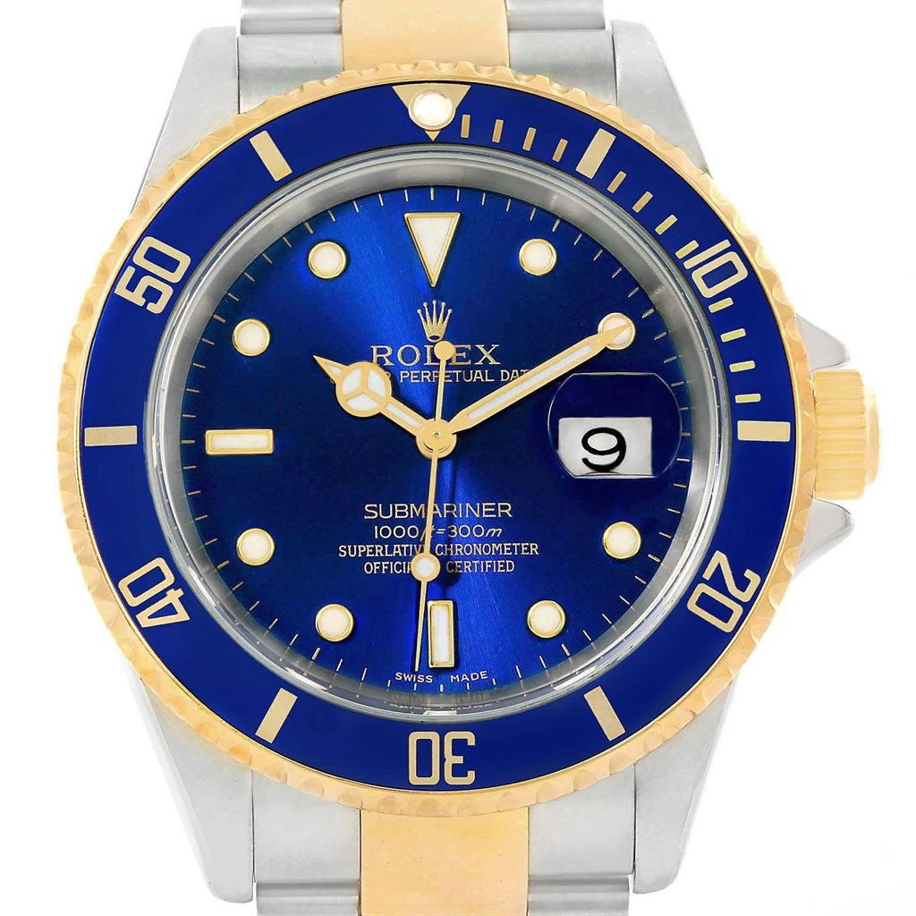 Rolex Submariner Blue Dial Steel Yellow Gold Watch
