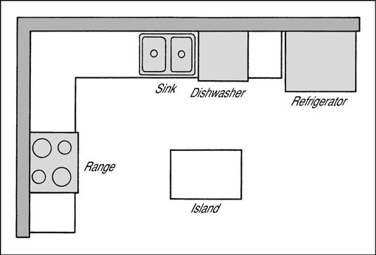 new layout l shaped kitchen floor plans with island