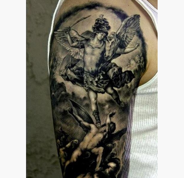 16 Popular St Michael Tattoo Design Ideas