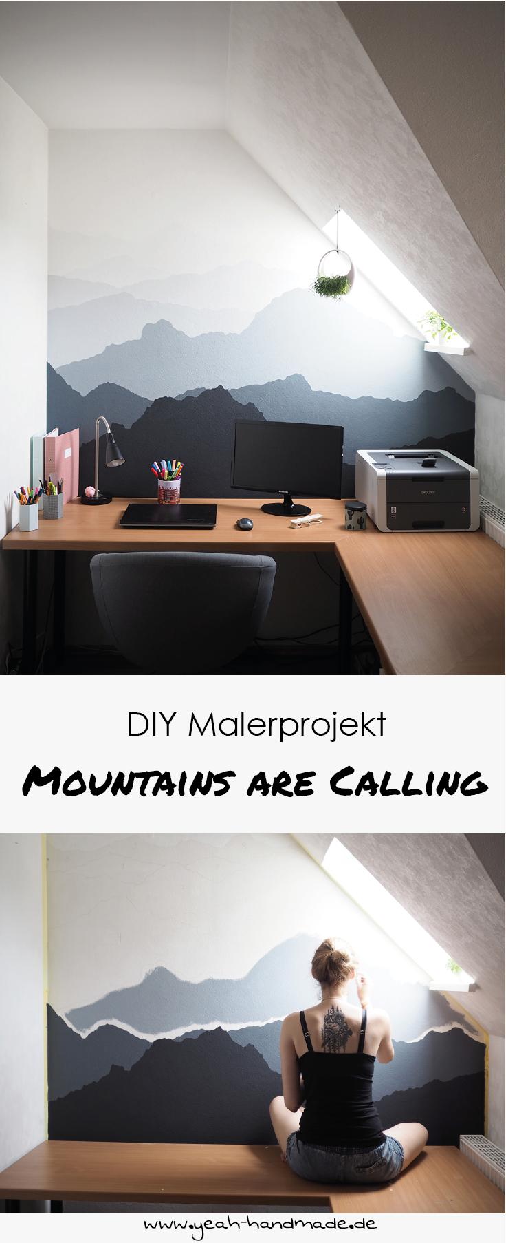 DIY Malerprojekt: Berglandschaft an die Wand malen. Tipps und ...