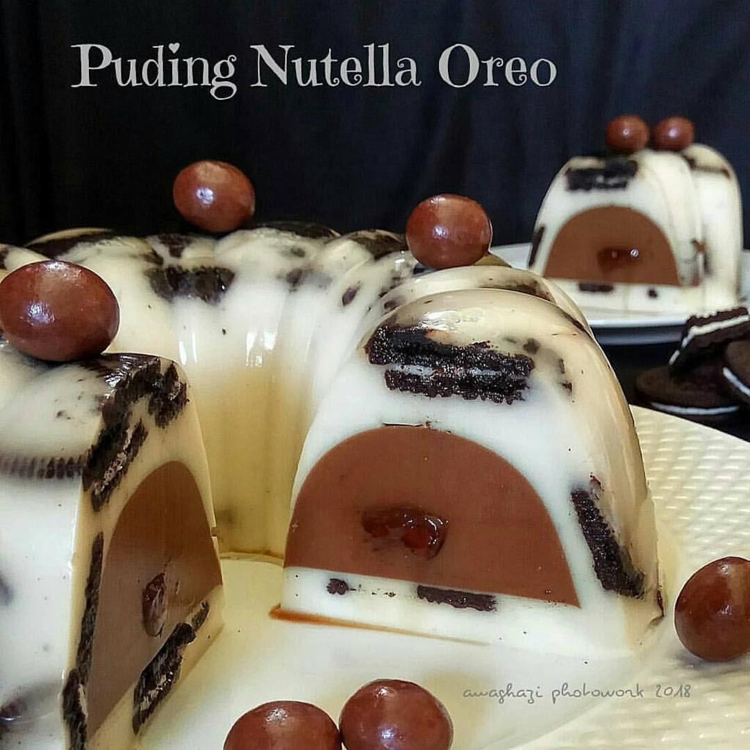 Puding Nutella Oreo By Yessy Octa Bahan I Puding Dalam 80 Gr Gula Pasir 1 Bungkus Agar2 Bubuk Plain 30 Gr Coklat Bub Makanan Penutup Makanan Nutella