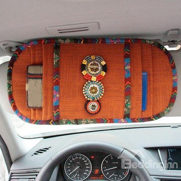 Böhmischen Stil mit schönen Dekoration CD-Halter Auto Sonnenschutz #böhmische…