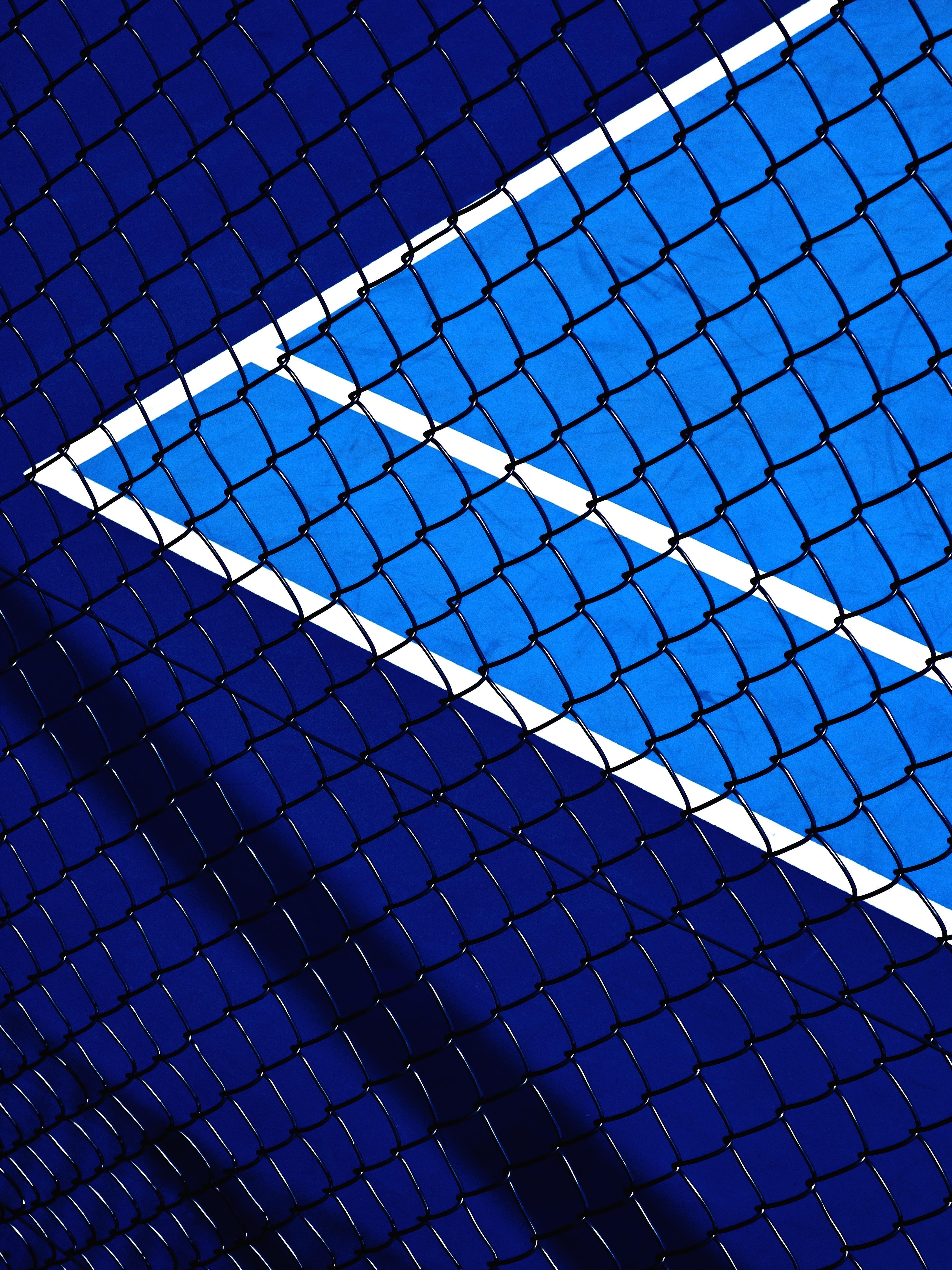 Tennis court 4K Stock iPad Pro Mesh fence 5K wallpaper