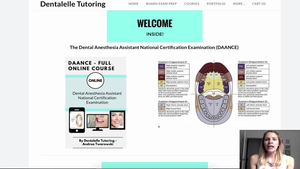 Study for the daance the dental anesthesia assistant national study for the daance the dental anesthesia assistant national certification examination prep course by dentalelle malvernweather Choice Image