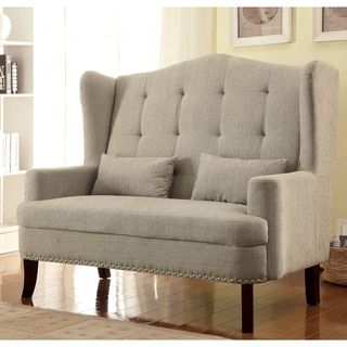 Pleasant Furniture Of America Vierre Romantic Wingback Tufted Pabps2019 Chair Design Images Pabps2019Com