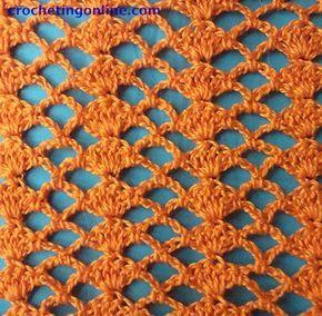 Tick Lace crochet stitches #shawlcrochetpattern