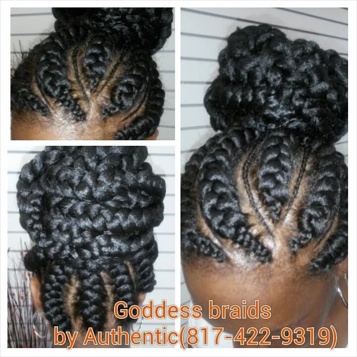 Cool Goddess Braids Authentic African Hair Braiding Goddess Braids Hairstyles For Women Draintrainus