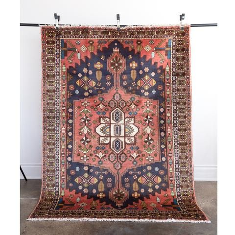 Mawar Coral And Navy Vintage Area Rug From Tonic Living In