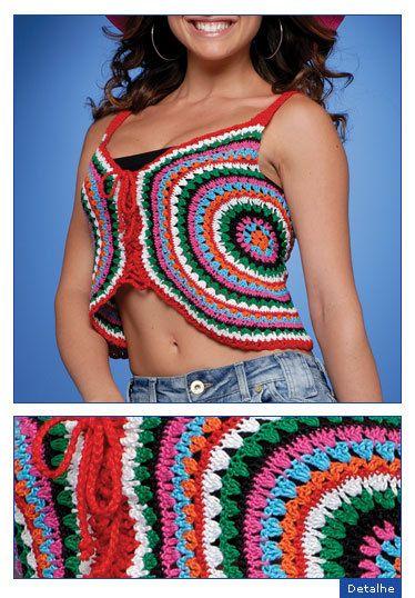 Blog de croche :CROCHETANDO COM  MARCINHA MARQUES, camiseta em croche