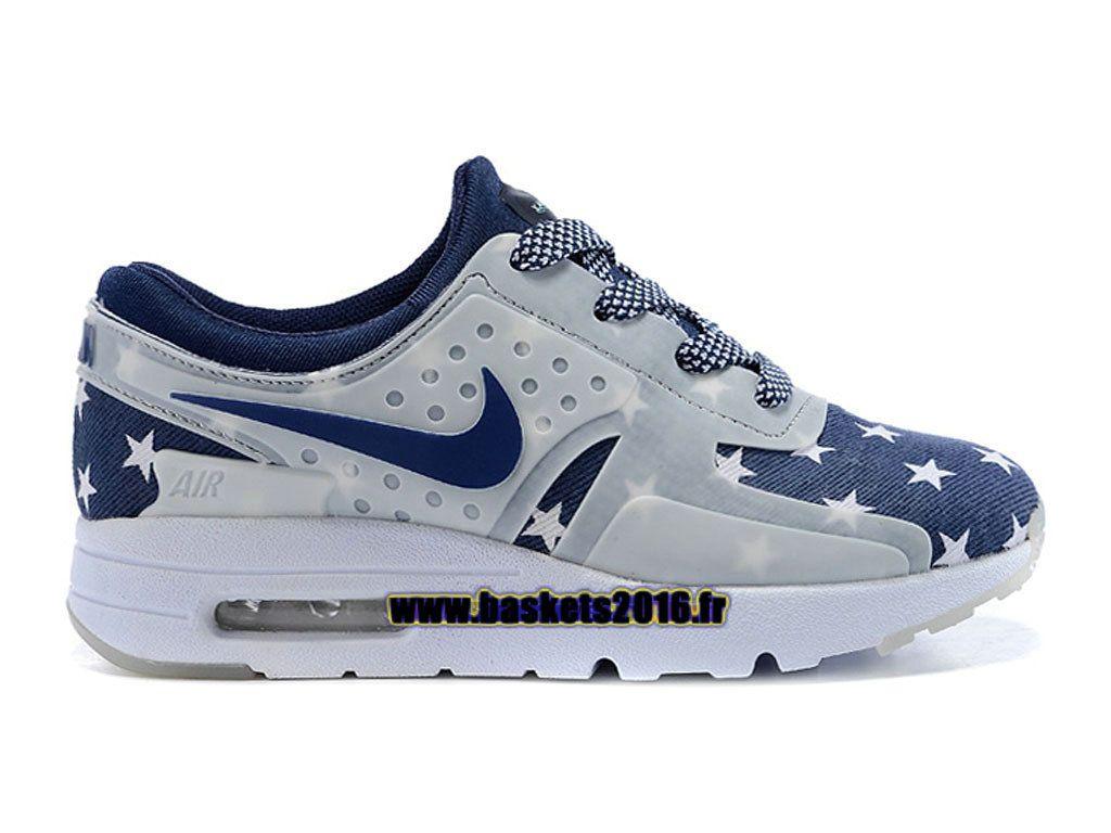 0964e2b11d65e Boutique Officielle Nike Air Max Zero Chaussures Pas Cher Pour Garcon Fille  Bleu - Blanc