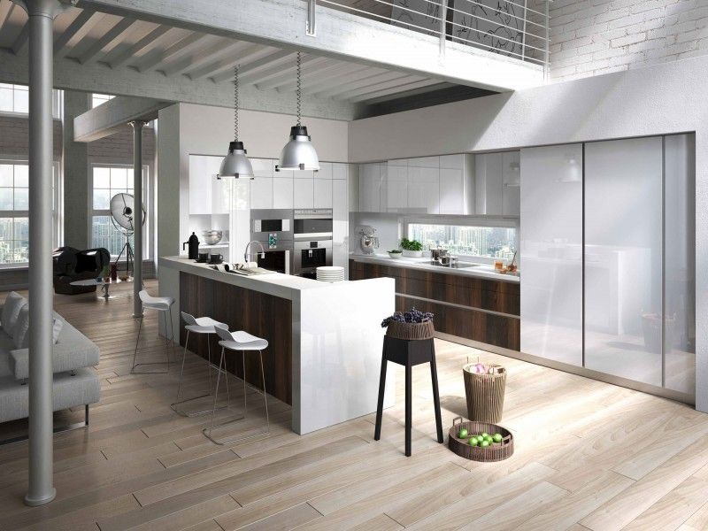 Une cuisine Snaidero, ici le modèle WAY avec un plan de travail en Quartz Silestone   www.idcuisine.be  #Cuisine #Way #Snaidero #Silestone #Bruxelles #Belgique #Design