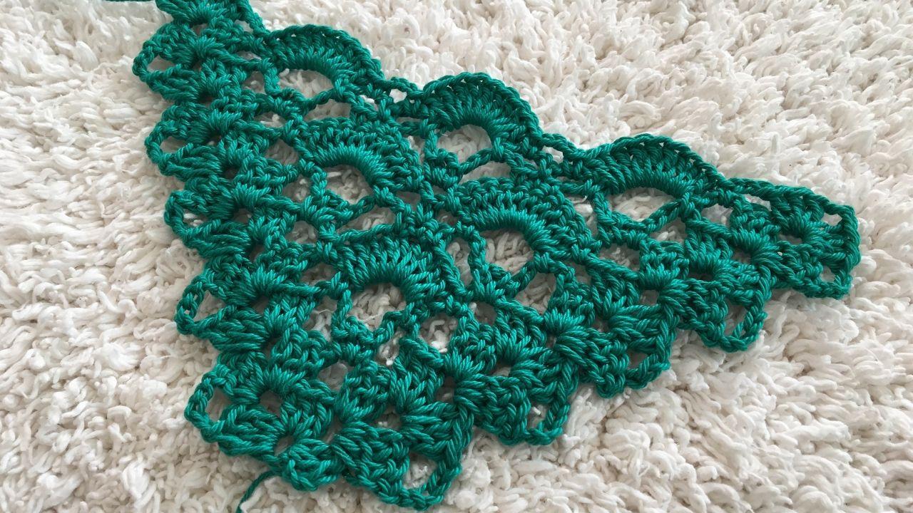 The triangular scarf 8 | Crochet tutorial | Pinterest | Häkelmuster ...