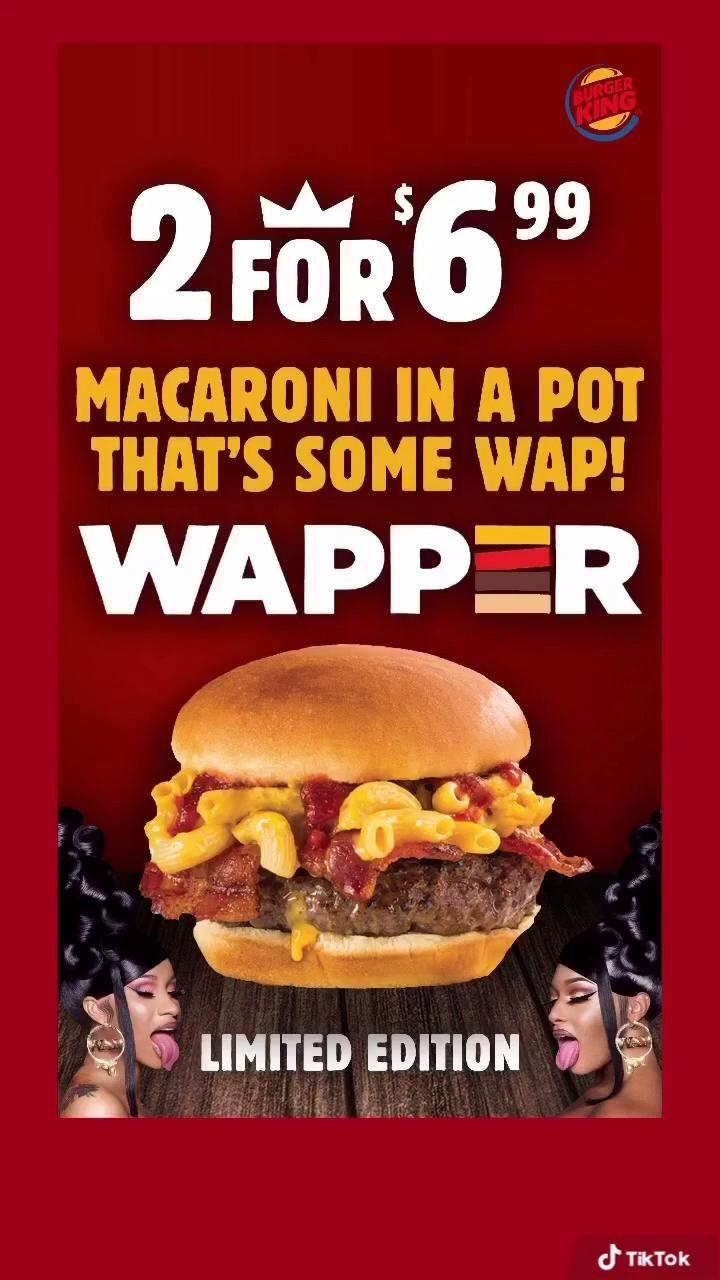 Wap Parody Cardi B Megan Thee Stallion Burger King Photoshop Illustrator Graphic Design Video Graphic Design Memes Memes French Pop Music
