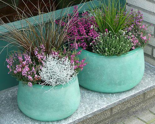 Herbstbepflanzung Blumenkästen