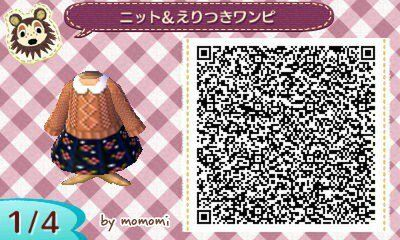 Animal Crossing New Leaf Acnl Qr Codes Floral Print Skirt And