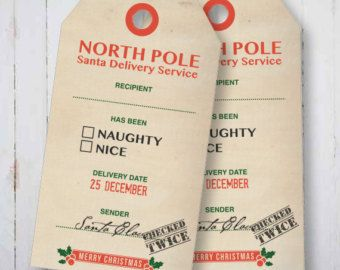 North pole gift tags google search holidays pinterest these north pole delivery service gift tags are the perfect tag for santas gifts simply print either at home or at your local print place kinkos negle Choice Image