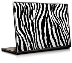 Zebra laptop cover