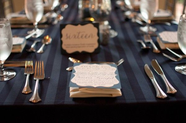Beau Great Striped Table Clothes Add A Little Something Extra To These Elegant  Tables. Photo: Liga Photography