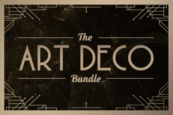 21+ Most Beautiful Art Deco Fonts to Inspire You | Free & Premium Templates