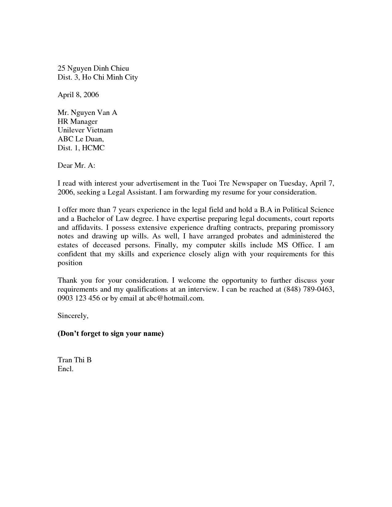 25 Basic Cover Letter In 2020 Cover Letter For Resume Resume