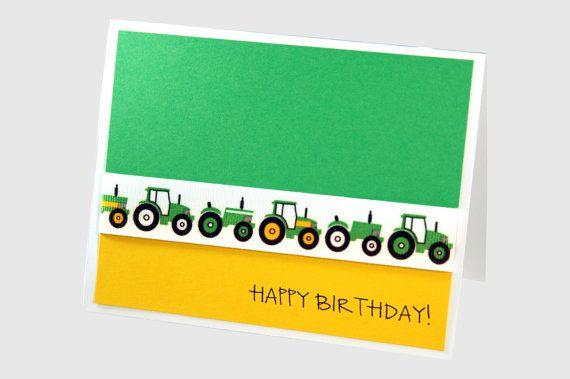 Boy Birthday Card Tractor Birthday Card Birthday Cards