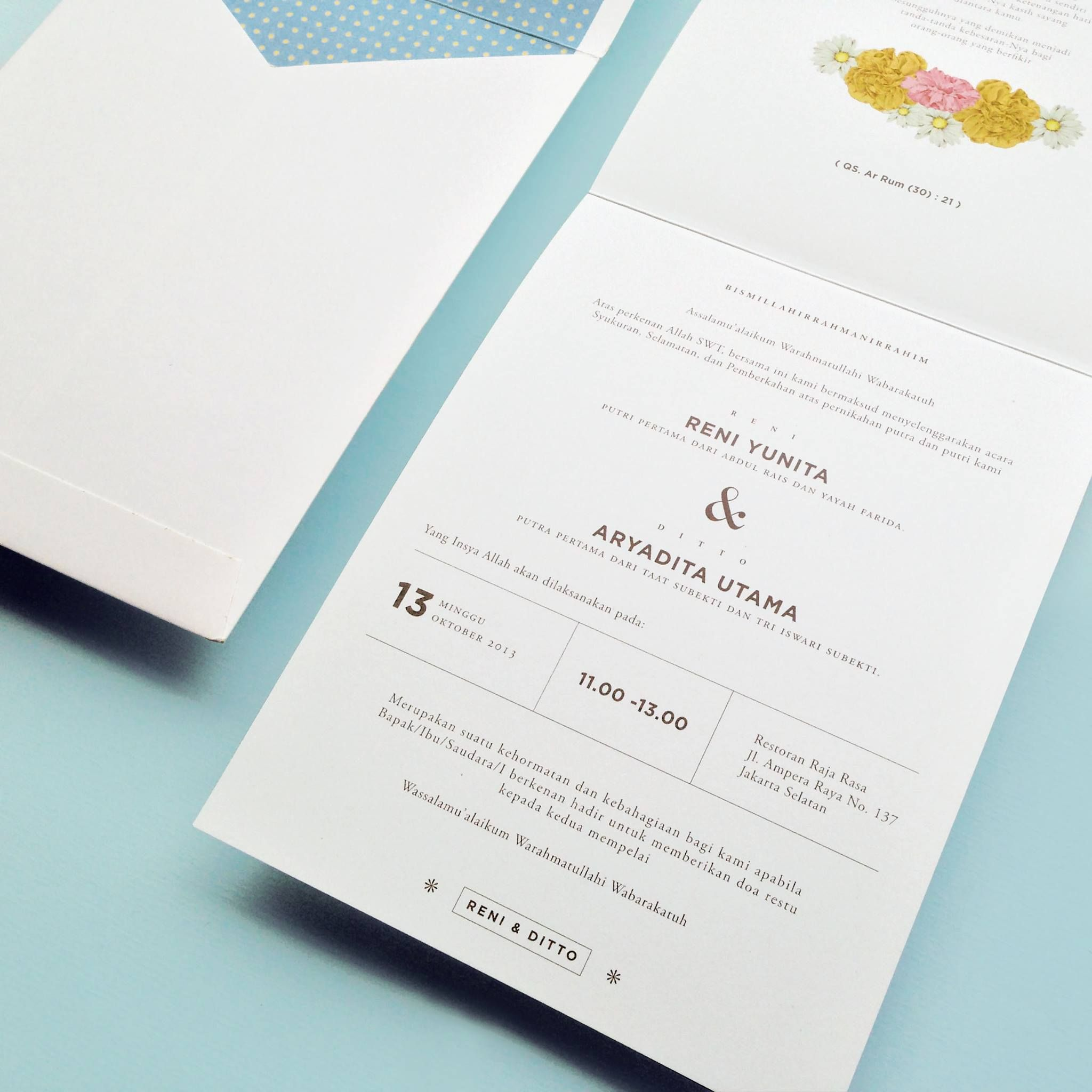 Wedding invitation by Pola Artistry | Prints | Pinterest