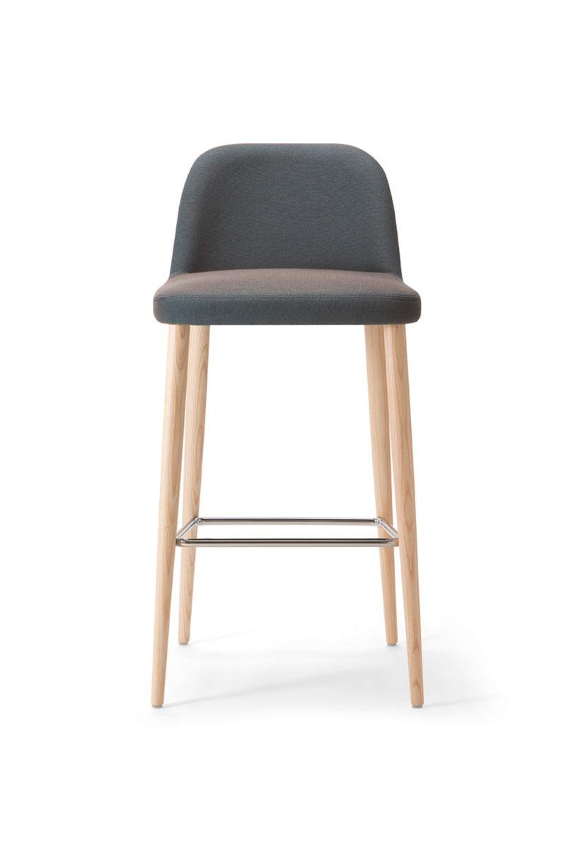 Da Vinci 07 101 Barstool Solid Ash 4 Legged Frame Fully Upholstered