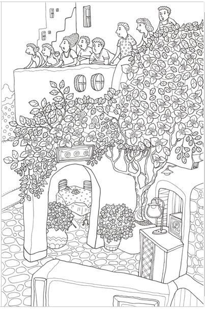MAMMA MIA GREECE MADE IN KOREA Coloring Book For Children Adult Graffiti Painting Drawing Like SECRET GARDEN