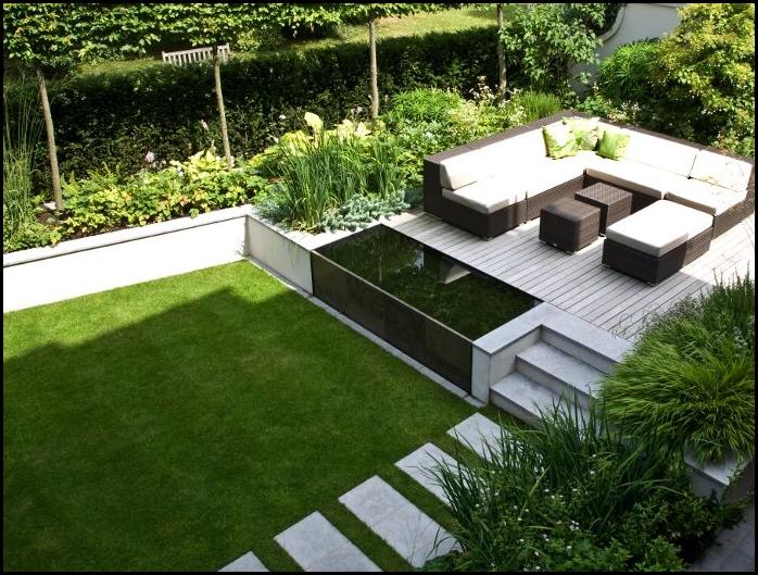 Big And Simple Backyard Landscape Large Backyard Landscaping Easy Backyard Cheap Landscaping Ideas
