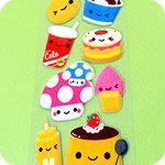 Super Long Kawaii Food Sticker Sheet