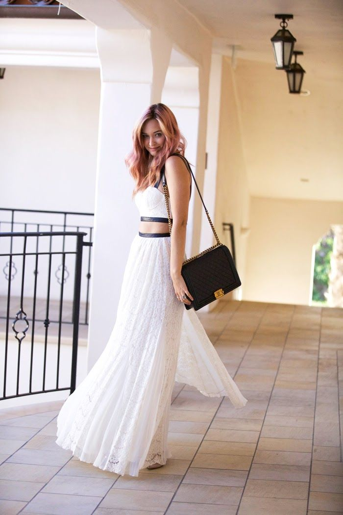 Late Afternoon - Dress - Alice  Olivia, shoes - Valentino, rings - c/o 8 Other Reasons, bag - Chanel