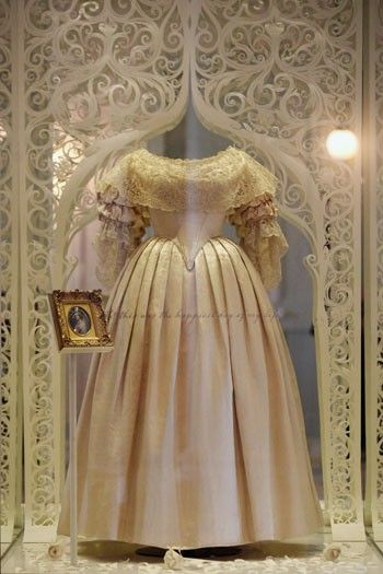 Current display at Kensington Palace of dress worn by Queen Victoria ...