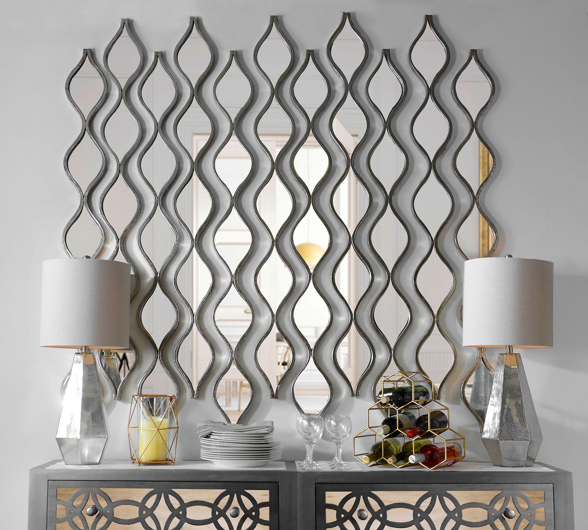 Single Silver Teardrop Panel Mirror 6 25x58 75 Mirror Decor