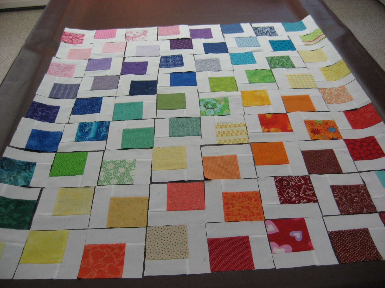 Rainbow Quilt ~ A Picture Tutorial | Quilting | Pinterest ... : rainbow quilt pattern - Adamdwight.com