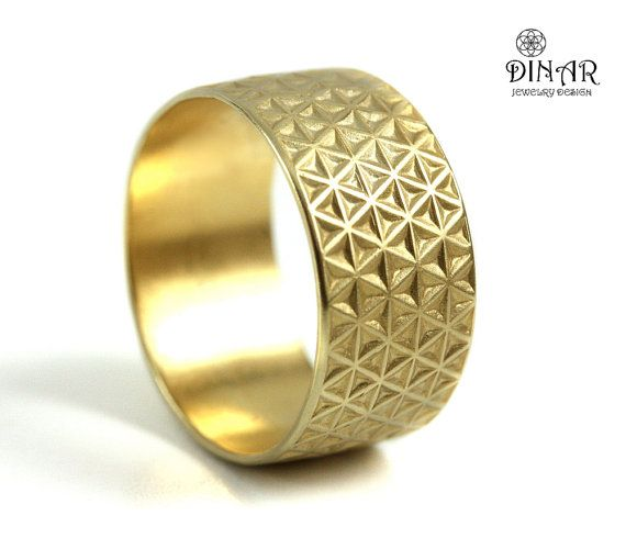 10mm Wide 18k Gold Wedding Band Man Textured Wedding Band Stars Texture Gold Wedding Ri Mens Gold Wedding Band Sterling Silver Wedding Band Gold Wedding Band